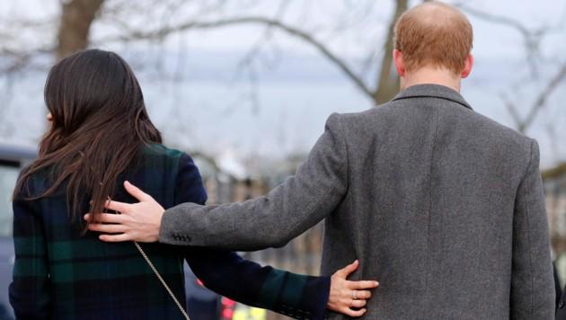 """Meghan und Harry wollen in Zukunft """"finanziell unabhängig"""" sein und zwischen Kanada und dem Vereinigten Königreich pendeln. (Bild: AP)"""