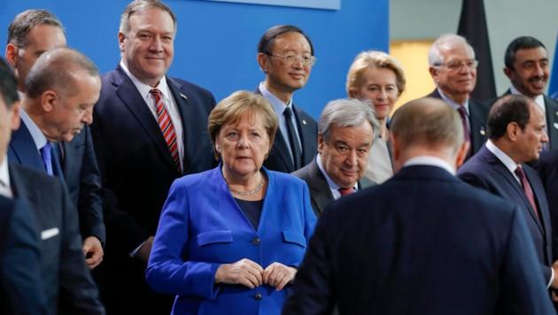 Aus Sicht der deutschen Kanzlerin Angela Merkel war der hochrangige Libyen-Gipfel ein Erfolg. (Bild: APA/AFP/Odd ANDERSEN)