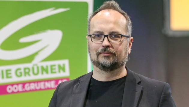 Michel Reimon von den Grünen (Bild: APA/HANNES DRAXLER)