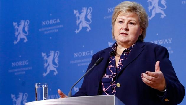 Norwegens Regierungschefin Erna Solberg (Bild: AFP)