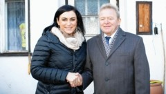Elisabeth Köstinger und EU-Kommissar Janusz Wojciechowski am Biohof (Bild: BMNT/Paul Gruber)