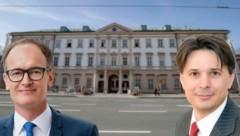 Simon Mayr (li.) und Alexander Molnar (re.) übernehmen die beiden wichtigen Posten des Personalamts- beziehungsweise des Finanzchefs in der Landeshauptstadt. (Bild: Tschepp, Stadt Salzburg)