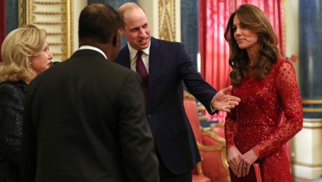 Herzogin Kate sah beim Treffen im Buckingham-Palast wunderschön aus. (Bild: AFP)