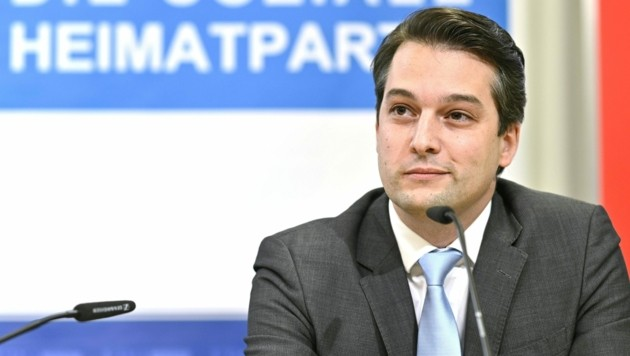 Dominik Nepp, FPÖ (Bild: APA/HERBERT NEUBAUER)