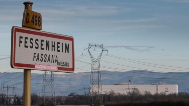 Das umstrittene französische Atomkraftwerk Fessenheim an der Grenze zu Deutschland ist nun vom Netz. (Bild: AFP)