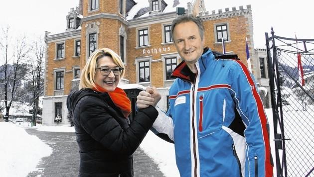 Elisabeth Krammel und Siegfried Keinprecht (Fotomontage) (Bild: Christian Jauschowetz, Liste Schladming Neu)