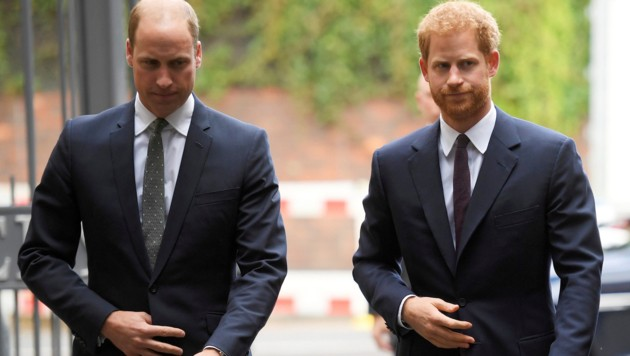 Prinz William und Prinz Harry (Bild: AP)