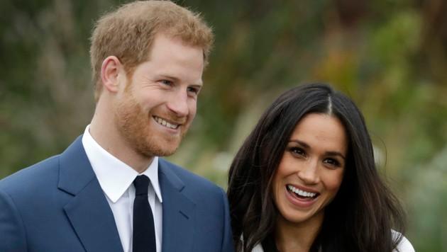 Prinz Harry und Herzogin Meghan (Bild: APA/AP)