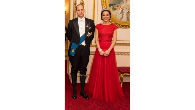Herzogin Kate in Alexander McQueen (Bild: www.PPS.at)