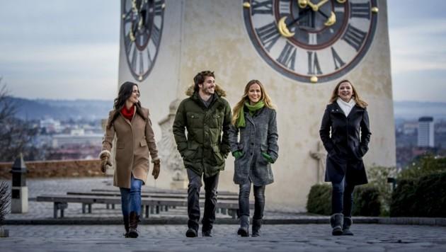 Erfolgsbilanz: 47 Prozent der Besucher in Graz kommen aus Österreich. Sie verbringen im Schnitt 1,78 Nächte in einem der aktuell 8092 Hotelbetten der Stadt. (Bild: Steiermark Tourismus / ikarus.cc)