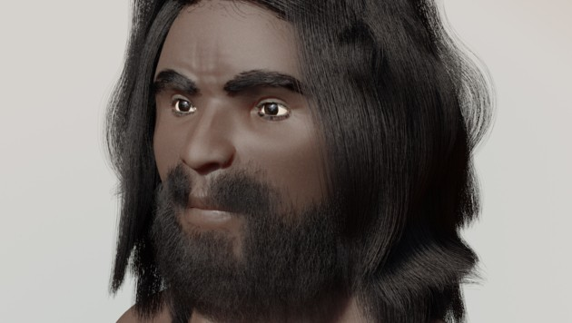 So soll das Opfer ausgesehen haben, dessen Schädel im niederösterreichischen Wöllersdorf gefunden wurden. Er soll vor rund 9000 Jahren gelebt haben. (Bild: FOsil/Dirk Labudde)