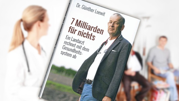 Überfüllte Praxen sind der Alltag: Trotz hoher Ausgaben werden wir nicht gesünder. Landarzt Günther Loewit übt Kritik. (Bild: stock.adobe.com, Edition A, krone.at-Grafik)