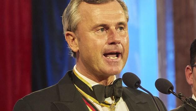 Norbert Hofer bei seiner Rede am Akademikerball (Bild: APA/FPÖ/MIKE RANZ)