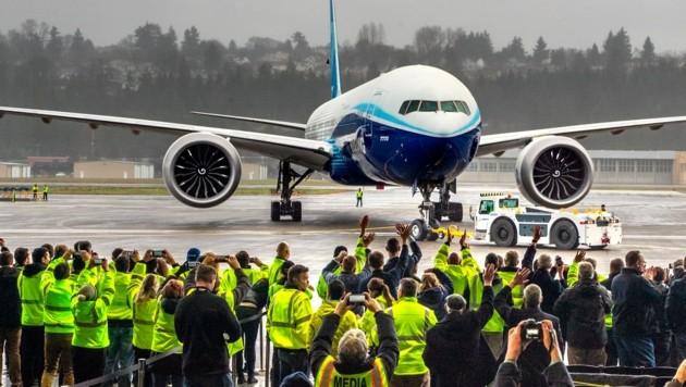 Eine Boeing 777X (Bild: AP)