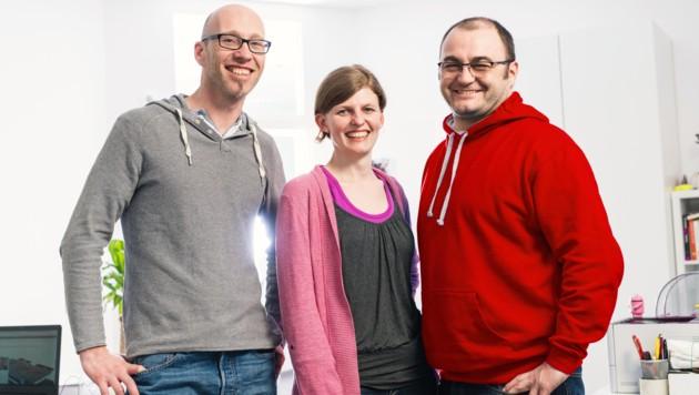 Die Gründer Reinhard Kern, Gerti Kurzmann und Manfred Lamplmair (r.). (Bild: Rudy Games)