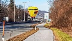 Salzburg, Heißluftballon neben Alpenstraße gelandet (Bild: Markus Tschepp)