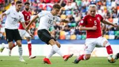 Christoph Baumgartner (Mitte) im U21-EM-Spiel gegen Dänemark im Juli 2019 (Bild: GEPA)
