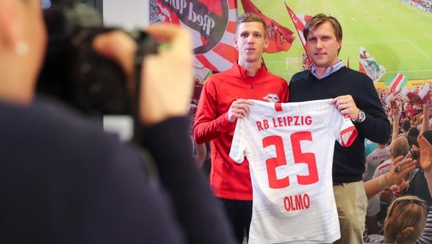 Markus Kroesche (rechts) und Dani Olmo (Bild: AFP)