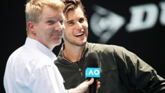 Dominic Thiem (re.) im Interview mit Jim Courier (Bild: GEPA )