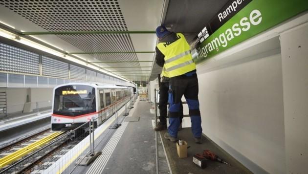 Station Pilgramgasse kurz vor der Wiedereröffnung nach einjähriger Sperre. (Bild: Wiener Linien/Johannes Zinner)