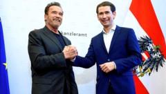 Zwei, die sich gut verstehen: Arnold Schwarzenegger und Bundeskanzler Sebastian Kurz (Bild: SEPA.Media KG   Martin Juen   www.sepa.media)