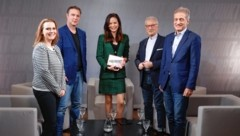Von links: Sabine Oberhauser, Andreas Babler, Katia Wagner, Hannes Swoboda, Josef Cap (Bild: Zwefo)