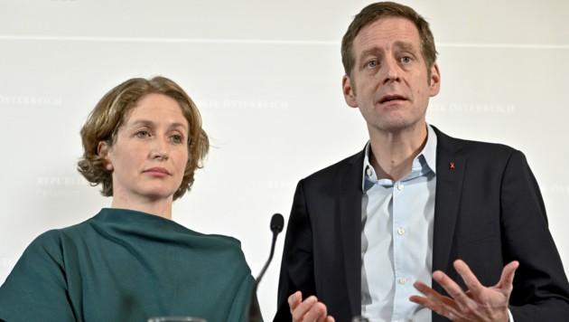 Stephanie Krisper (NEOS) und Jan Krainer (SPÖ) (Bild: APA/HERBERT NEUBAUER)