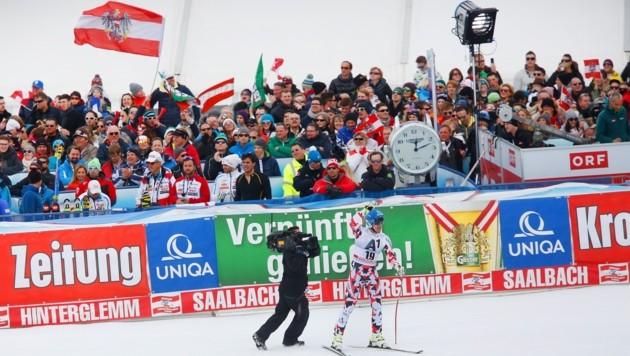 Matthias Mayer siegte bei der letzten Abfahrt in Saalbach 2015. (Bild: Gerhard Schiel)
