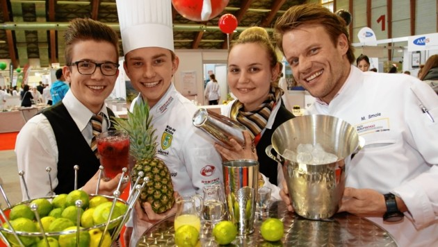 Andi, Christoph und Szabina mit Ausbildner Markus Smole. (Bild: Rojsek-Wiedergut Uta)