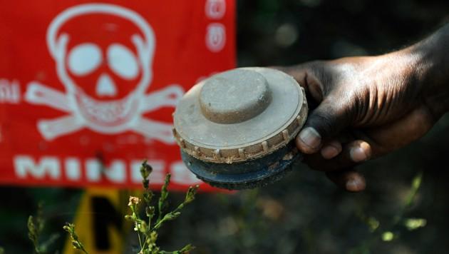 Immer noch kommen jedes Jahr Tausende Menschen durch Landminen ums Leben. (Bild: AFP)