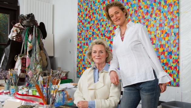 Sybille de Selys Longchamps mit Tochter Delphine Boel (Bild: www.viennareport.at)