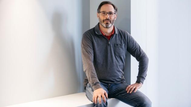 "Andreas Salcher leitet die noch jungen Koordinationsstelle ""v-digital"" am Dornbirner Campus. (Bild: lisamathis.at)"
