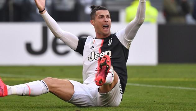 Auch Cristiano Ronaldo wartet schon sehnsüchtigst auf einen Restart des italienischen Fußballs ... (Bild: AFP)