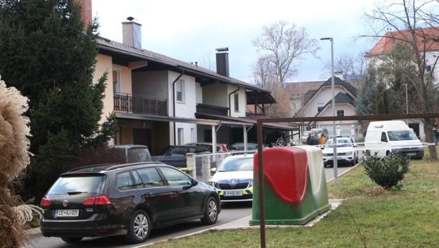 Hier, in Polzela, beim Haus der Mutter soll der Verdächtige den Mord begangen haben. (Bild: Gordona Possnig/Večer)