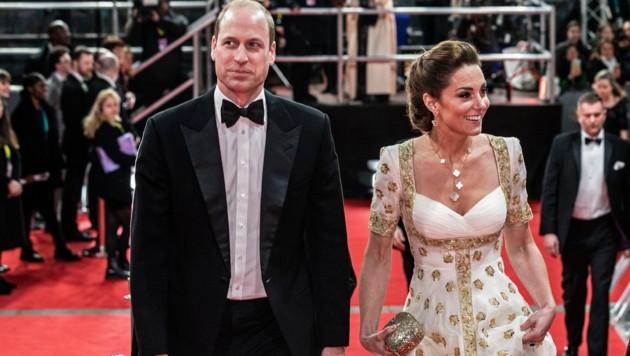 Herzogin Kate überstrahlte bei den BAFTAs selbst die Hollywood-Promis. (Bild: AFP)