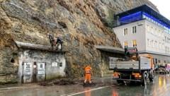 Steinschlag am Mönchsberg löst Verkehrschaos aus (Bild: Markus Tschepp)