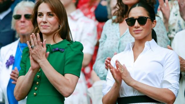 Herzogin Kate und Herzogin Meghan 2019 in Wimbledon (Bild: www.pps.at)