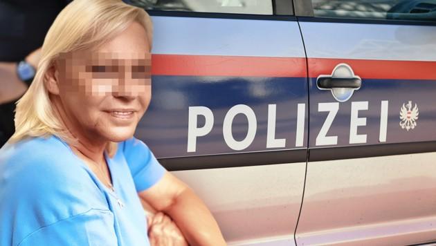 Ingrid S., die Tochter des Opfers (Bild: APA/Barbara Gindl, Reinhard Holl, krone.at-Grafik)
