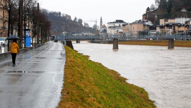 Der Dauerregen in Salzburg hält noch bis Donnerstag an. (Bild: Markus Tschepp)