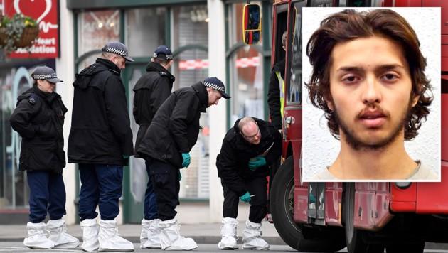 Der 20-jährige Sudesh Amman wurde von der Polizei erschossen. (Bild: ASSOCIATED PRESS, krone.at-Grafik)