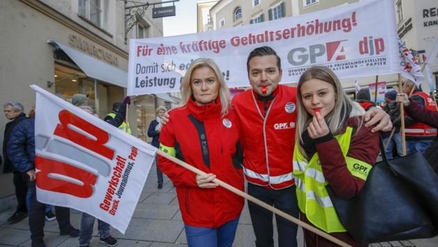 2018 ging die Gewerkschaft für den Handel auf die Straße (Bild: Tschepp Markus)