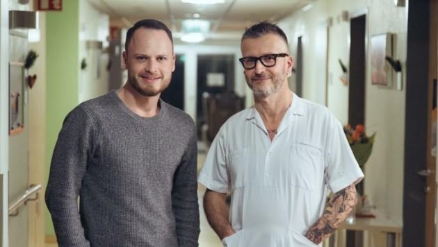 Robert Mellitzer (re.) mit Regisseur Lorenz Wetscher (Bild: Wetscher/ Wastl)