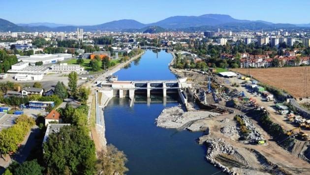Sicher das bisher umstrittenste Projekt unter Schwarz-Blau - das Grazer Murkraftwerk. (Bild: Energie Steiermark)
