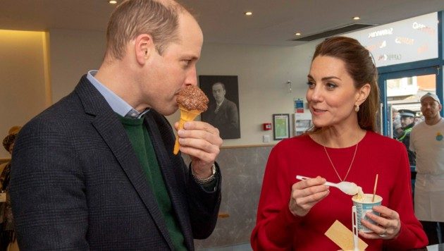 Prinz William outete sich als Schoko-Eis-Fan (Bild: AFP)