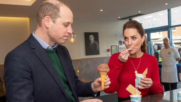 Auch Kate konnte einem Eis nicht widerstehen. (Bild: AFP)