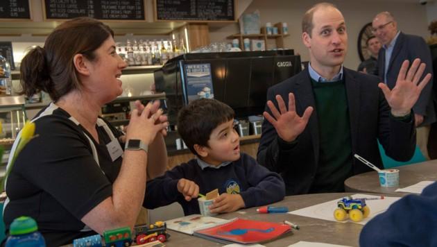 Prinz William ließ sich so manches Geheimnis über seine Kinder entlocken. (Bild: Newsgroup UK)
