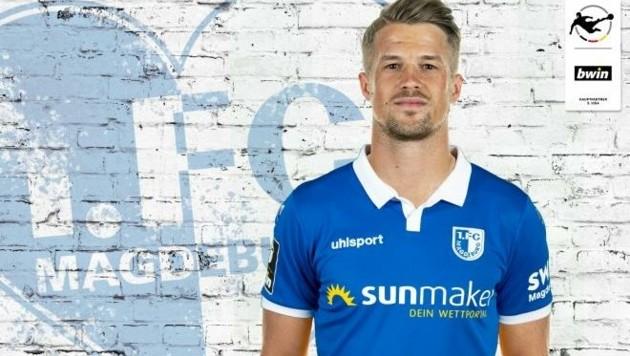 Schon im neuen Dress: Patrick Möschl (FC Magdeburg). (Bild: FC Magdeburg)