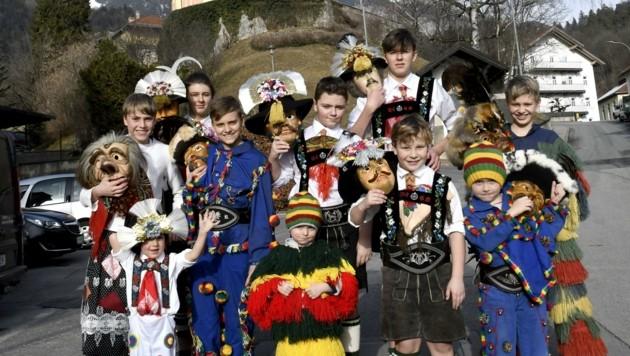 Die junge Muller-Gruppe aus Innsbruck-Mühlau lädt am Sonntag zum Kinderumzug (Bild: Andreas Fischer)