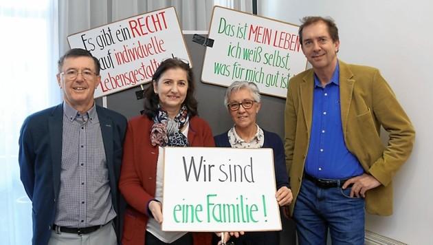 Kämpfen für Einrichtung in Gleinstätten: Kurt Klein, Hermine Marhold, Christa Fuchs-Wurzinger und Wolfgang Klemencic (Bild: Christian Jauschowetz)