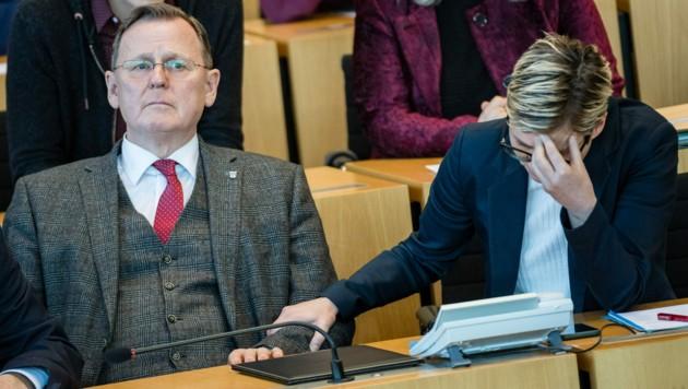 Von 2014 bis Februar 2020 war Bodo Ramelow von den Linken Ministerpräsident in Thüringen. Bis das AfD-gestützte Wahlergebnis ihn und die thüringische Landtagsvorsitzende der Linken, Susanne Hennig-Wellsow, überraschte und für ein beispielloses Politbeben in Deutschland sorgte. (Bild: AFP)